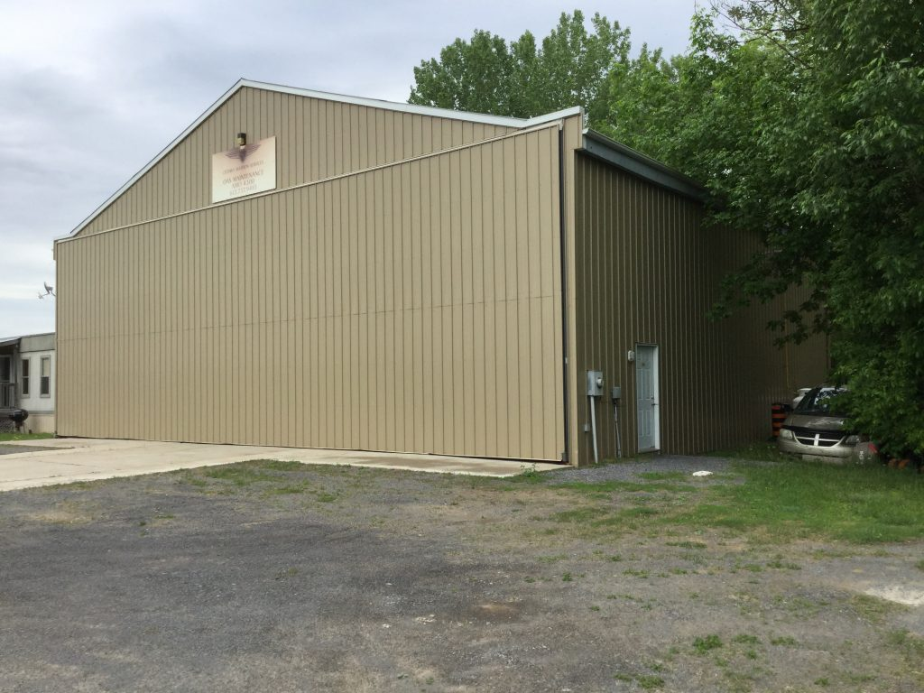 Outside image of a hangar for rent