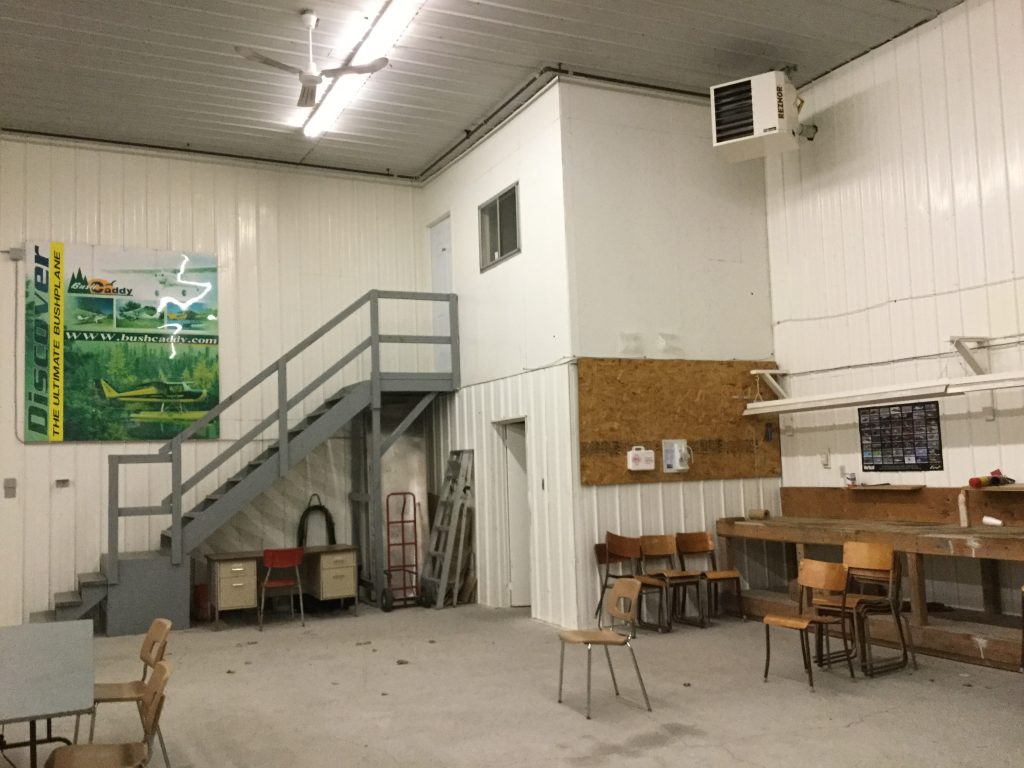 Inside image of a hangar for rent